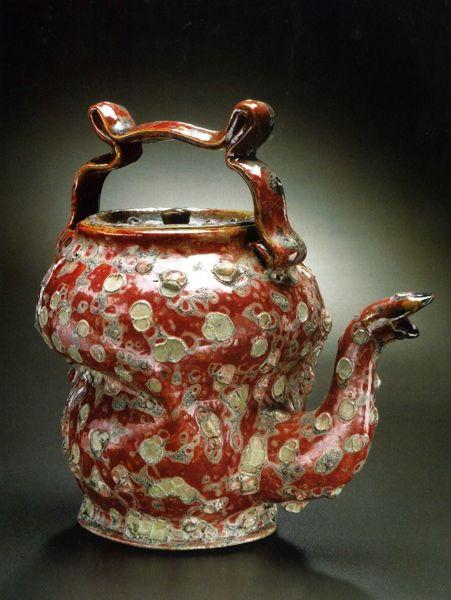 George Ohr, teapot, c. 1897-1900. Metropolitan Museum of Art.