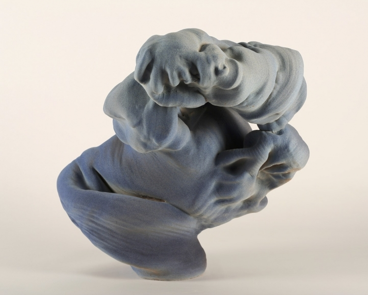 Anne Marie Laureys,  Clouds by My Fingers , 2015. Glazed stoneware.