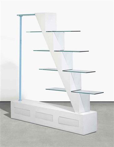 Adalberto Libera bookcase, 1979, for Studio Alchymia.