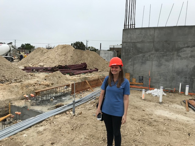 Here is one of our  Florida Green Building Coalition  (FGBC) Designated Professionals for the High Rise Residential Rating System. She is on site at one of our projects. Learn more about the FGBC, RunBrook's role in the project, and the benefits of certification.