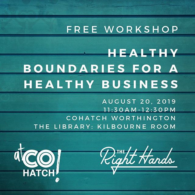 Tomorrow at the Old Worthington @cohatchcommunity location. This is a topic very close to my heart...and something that has been completely transformative in my work life! Link to register in my profile.