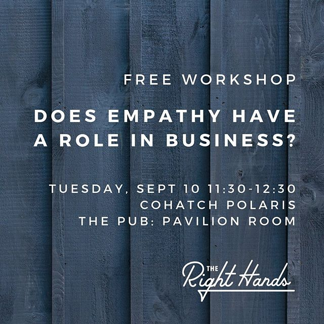 Learn how to walk in someone else's shoes for a while...even at work! Join me today at @cohatchcommunity - The Pub at Polaris. (Link to more info in profile.)