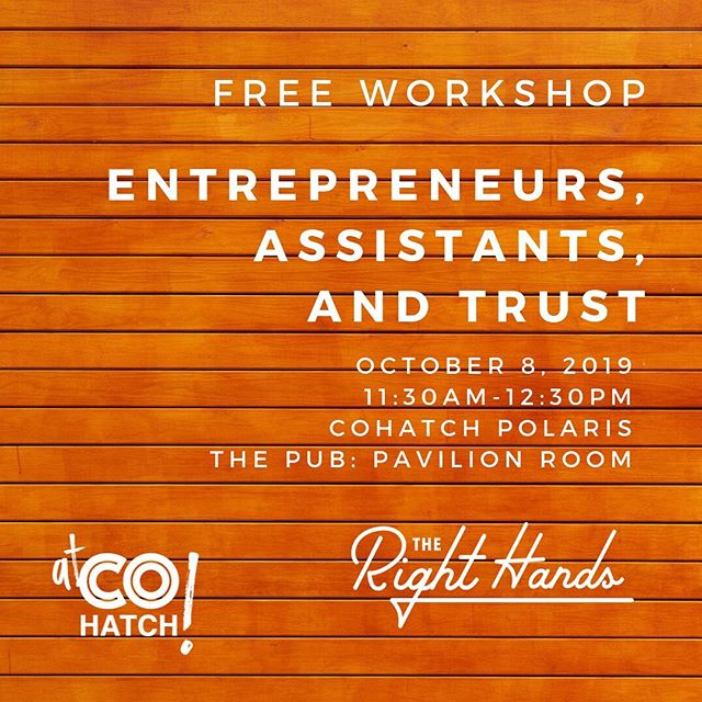 Trust is a tricky thing, especially in small companies where the line between business and personal is blurry, at best. Learn the foundations of trust at this free workshop at the beautiful Polaris: The Pub  @cohatchcommunity ! Learn more and register at the link in our profile.