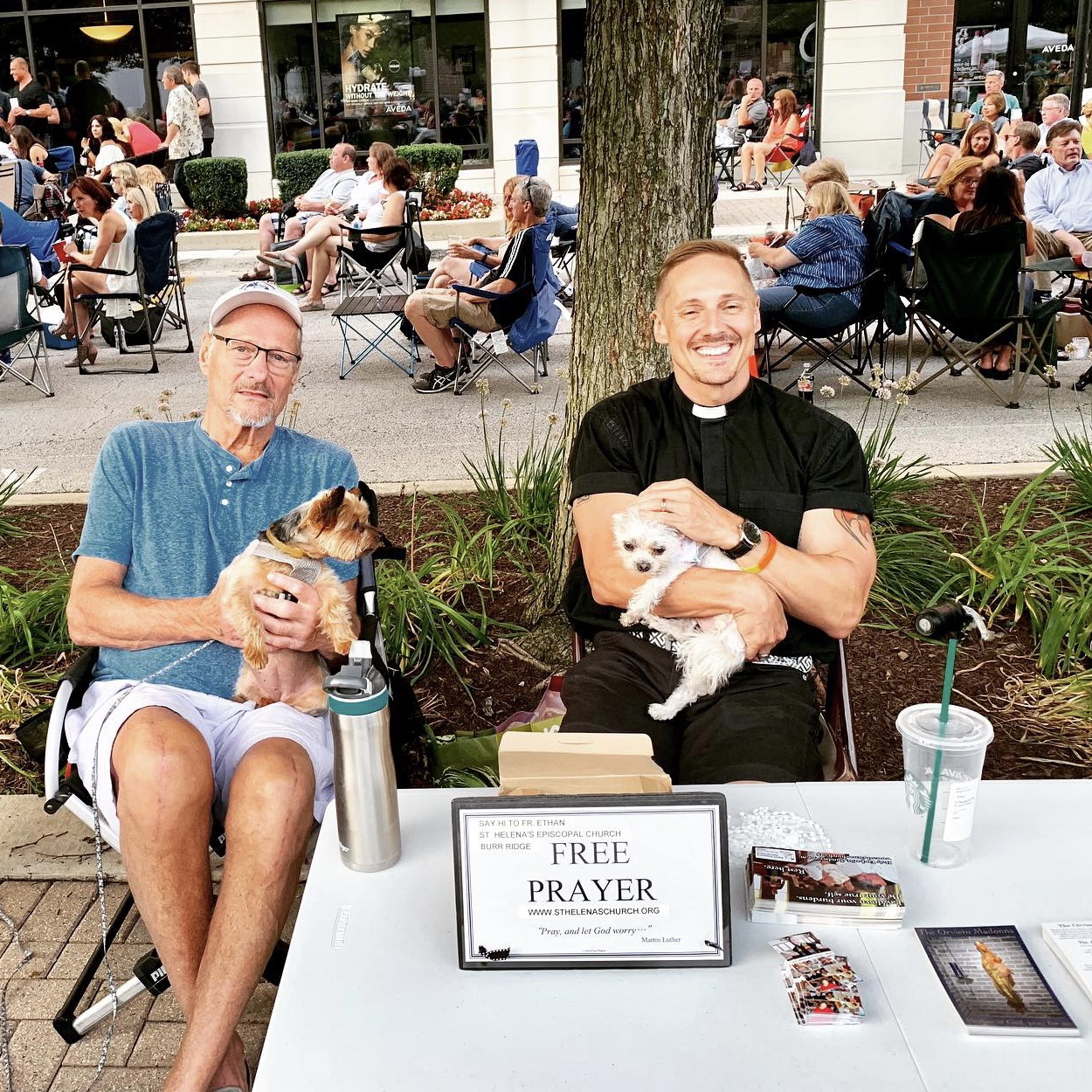 Community Events - St. Helena's participates in a number of other outreach activities, such as the communion and visit ministry of parishioner, Deidre Burke, at two local retirement communities and our presence at the Burr Ridge Concerts on the Green.
