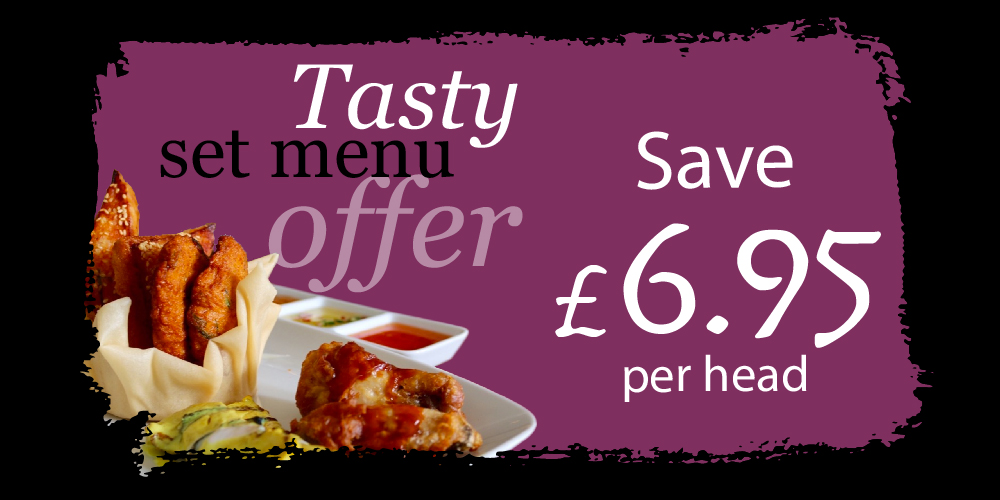 Enjoy two courses at £15 per head - from Set Menu A – usually £21.95(or from Vegetarian Set Menu – usually £20.95).