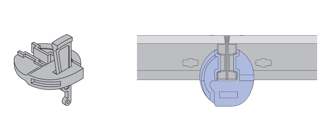 Quick panel connection - Save time in assembly with only 3 lightweight Frami clamps per 9 ft. verical join. Just one blow with a hammer and the panels are joined and aligned.