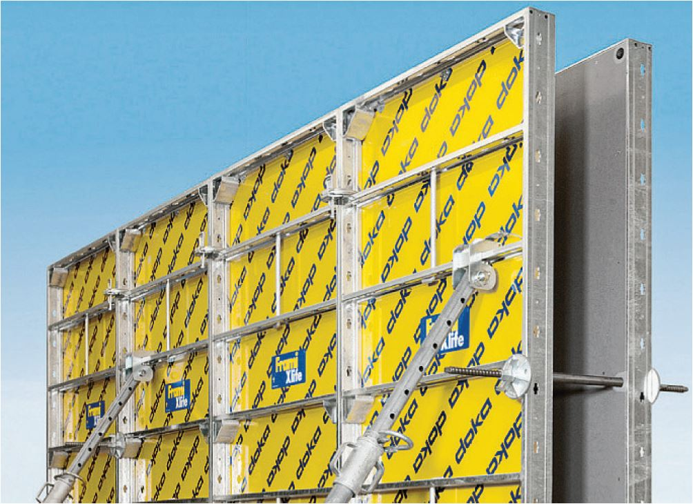 Sturdy, torsion-resistant steel frames &Tie-hole protection - The frames of the Frami panels are made of torsion resistant hollow-section steel profiles. High-quality hot dipped galvanizing ensures an extremely long life span.The steel tie hole protection guarantees a long life span of the plyqood with a very good finish.