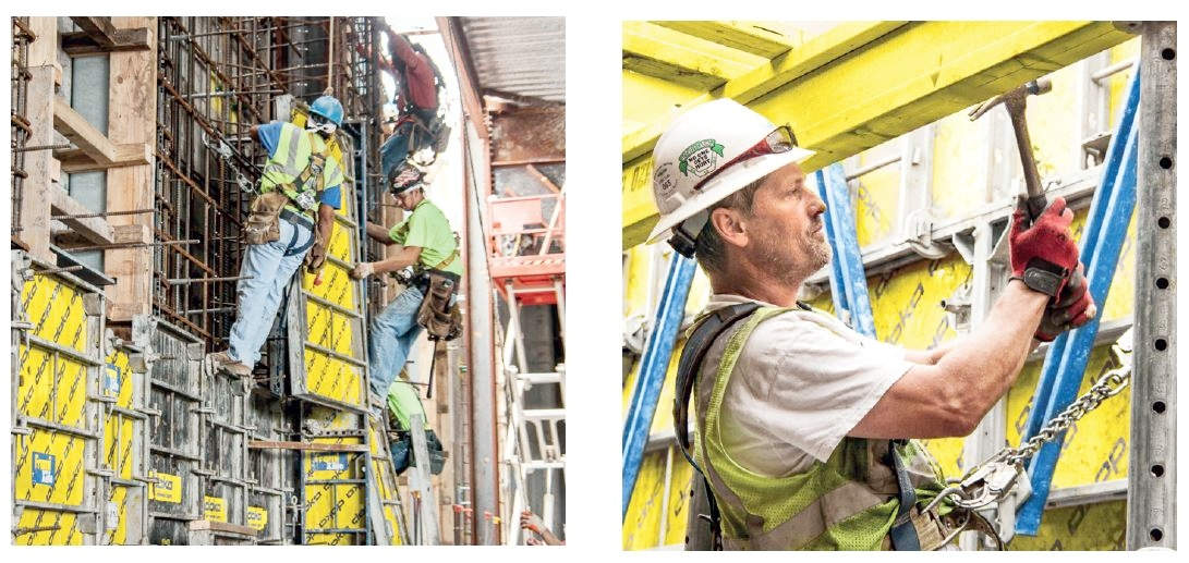 Frami xlife panels are easy to set by hand and robust enough to be moved by crane - fast resetting