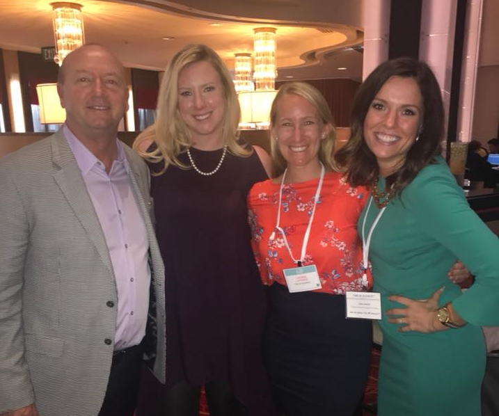 Cofounders of The W Source™ Thomas Goodson (left) and Hannah Buschbom (center left) with Sales and Productivity Coach Lauren LaForge (center right) and Julia Sewell (right).