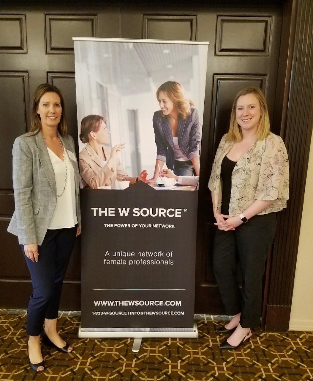 Scottsdale/Arcadia Co-Chapter Head Vickie Garcia (left) and cofounder of The W Source™ Hannah Buschbom (right).