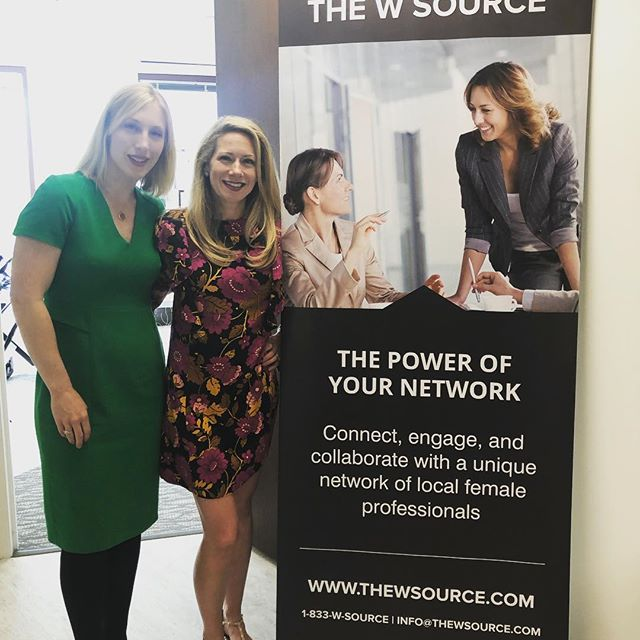Intown Atlanta Co-Chapter Heads Kristen Rajagopal (left) and Charlotte Cowan Geletka (right). Photo credit:  @silverpennyfinancial