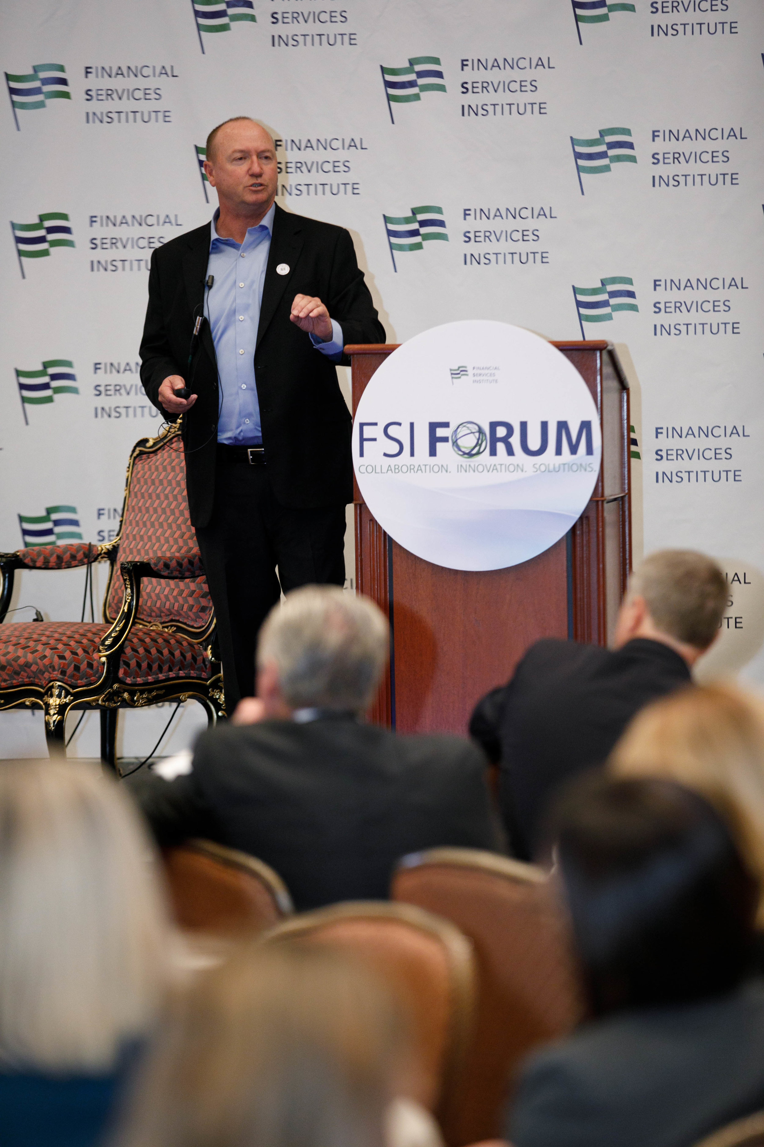 """Thomas Goodson, cofounder of The W Source™, presenting """"Intentional Networking"""" in the Advancing Women Leadership Workshop at the FSI Forum 2018 in Salt Lake City, UT. Photo Credit:  Kinser Studios"""