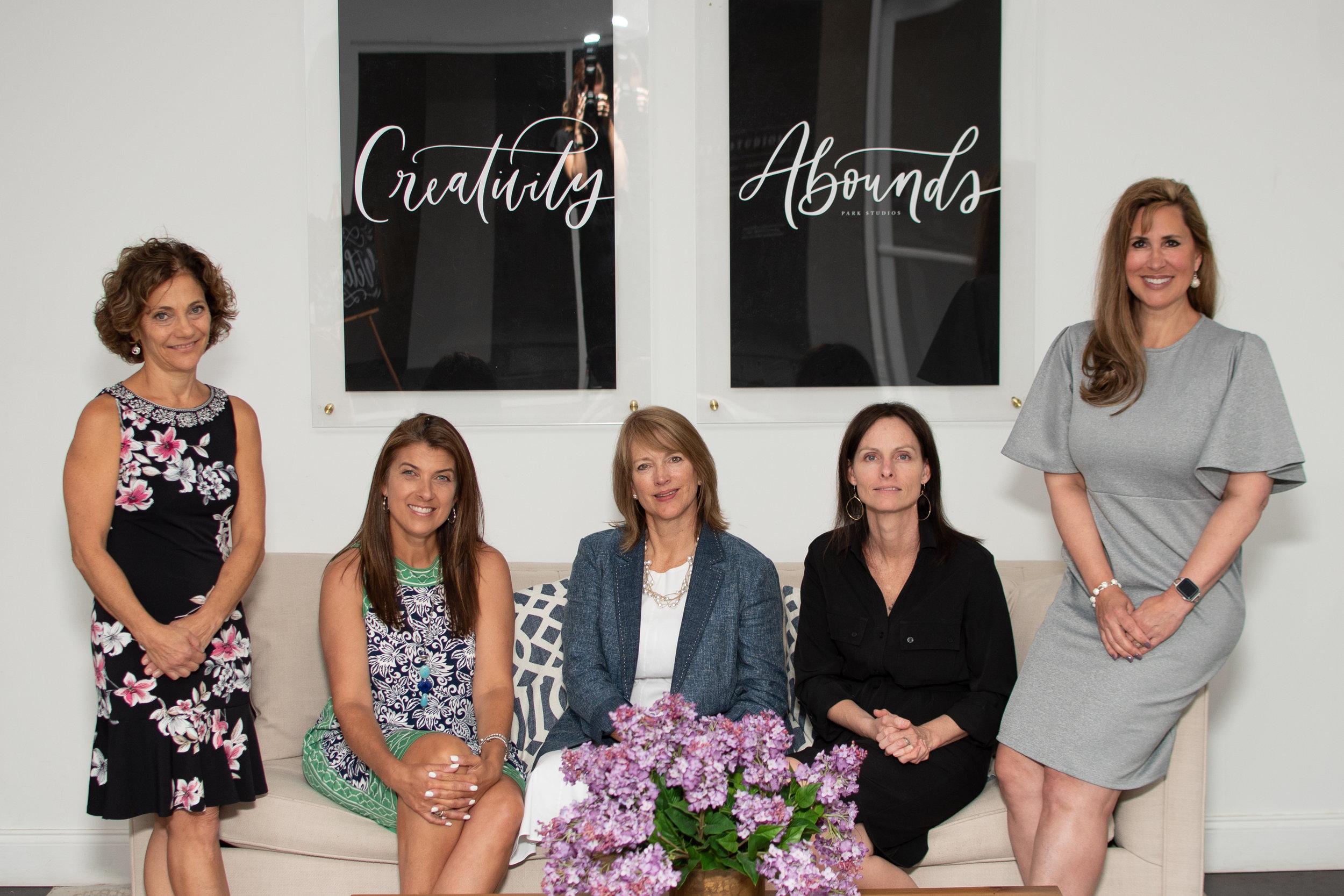Pictured from left to right: Nina Shih, Michelle Merrill, Kaye Ginsberg, Susan Matray and Jennifer Johnston. Photo credit: Ericka Hamner
