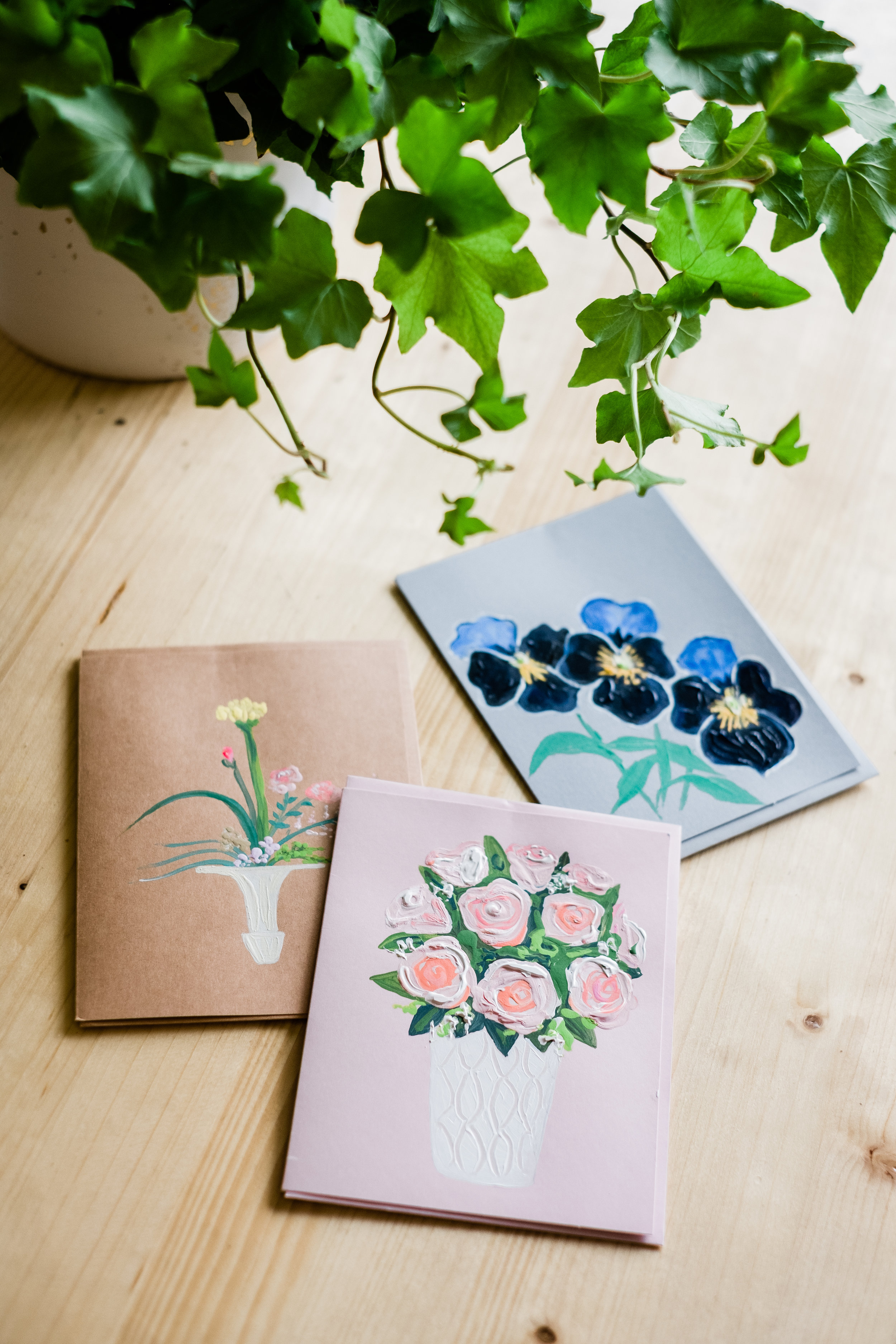 Hand Painted Cards - $10