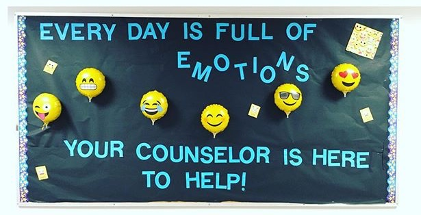 I created this emoji bulletin board for the first day of school. My kiddos are always using emojis so they really liked this one! I think I found the saying on Pinterest. I bought the balloons in the party section at Walmart and the emoji cards I cut off of a notebook cover I found in the school supply section at Walmart.