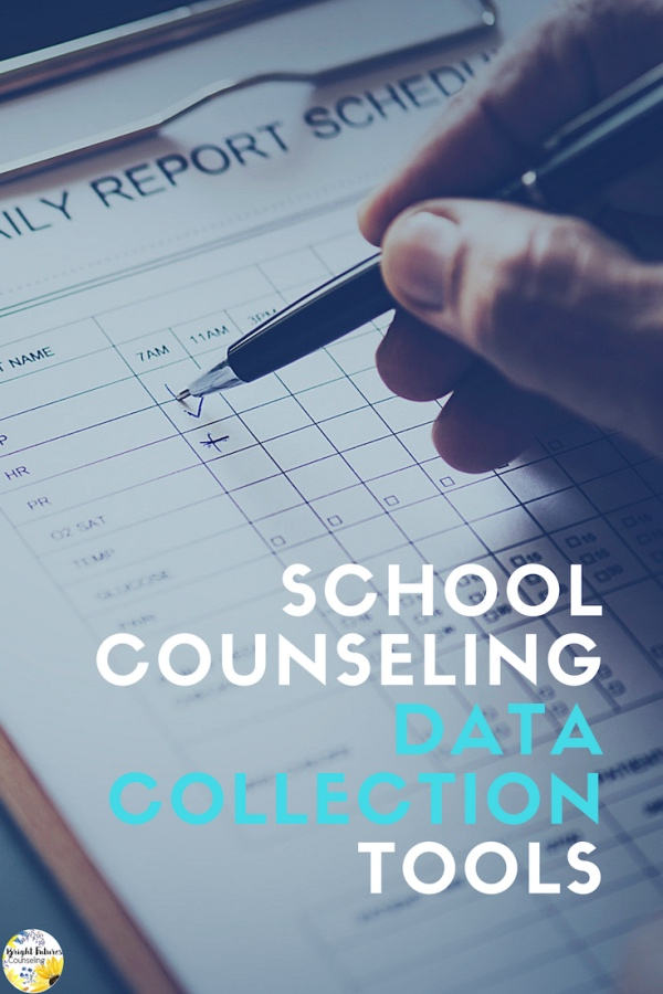 Data Collection: 5 Useful Tools to Track Progress in School Counseling. Data tracking is crucial to validating your role as a school counselor. Easily track student data in your school counseling program with these 5 tools. #brightfuturescounseling #elementaryschoolcounseling #elementaryschoolcounselor #schoolcounseling #schoolcounselor #counselingdata #datacollection #counselingassessments
