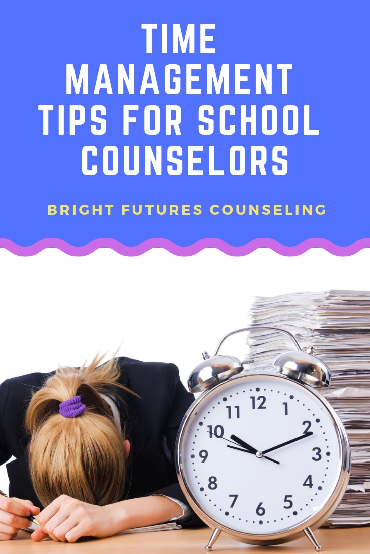 Time management tips for school counselors. Implement these systems to effectively manage your time so you can best meet students needs. #brightfuturescounseling #elementaryschoolcounseling #elementaryschoolcounselor #schoolcounseling #schoolcounselor #counselingoffice #schoolcounselingtips #timemanagement #caseloadmanagement