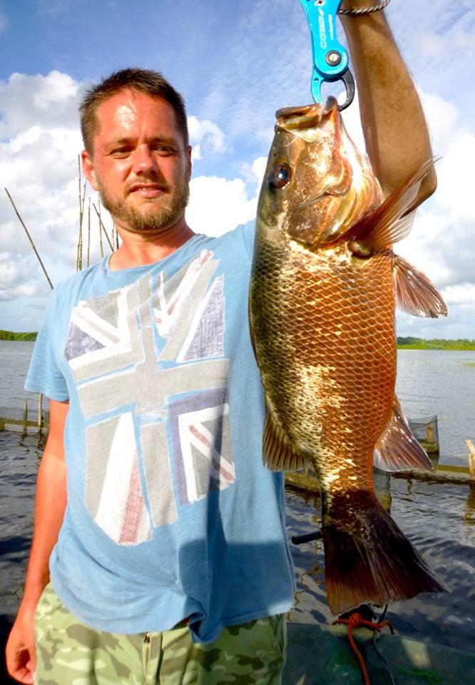 Mangrove Jack lure fishing Bolgoda Lake Sportfishing Lanka