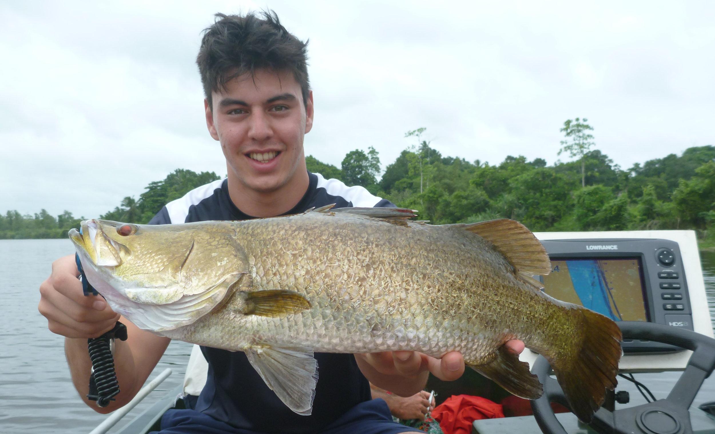 Sportfishing Lanka Wild Golden Barramundi Bolgoda Lake