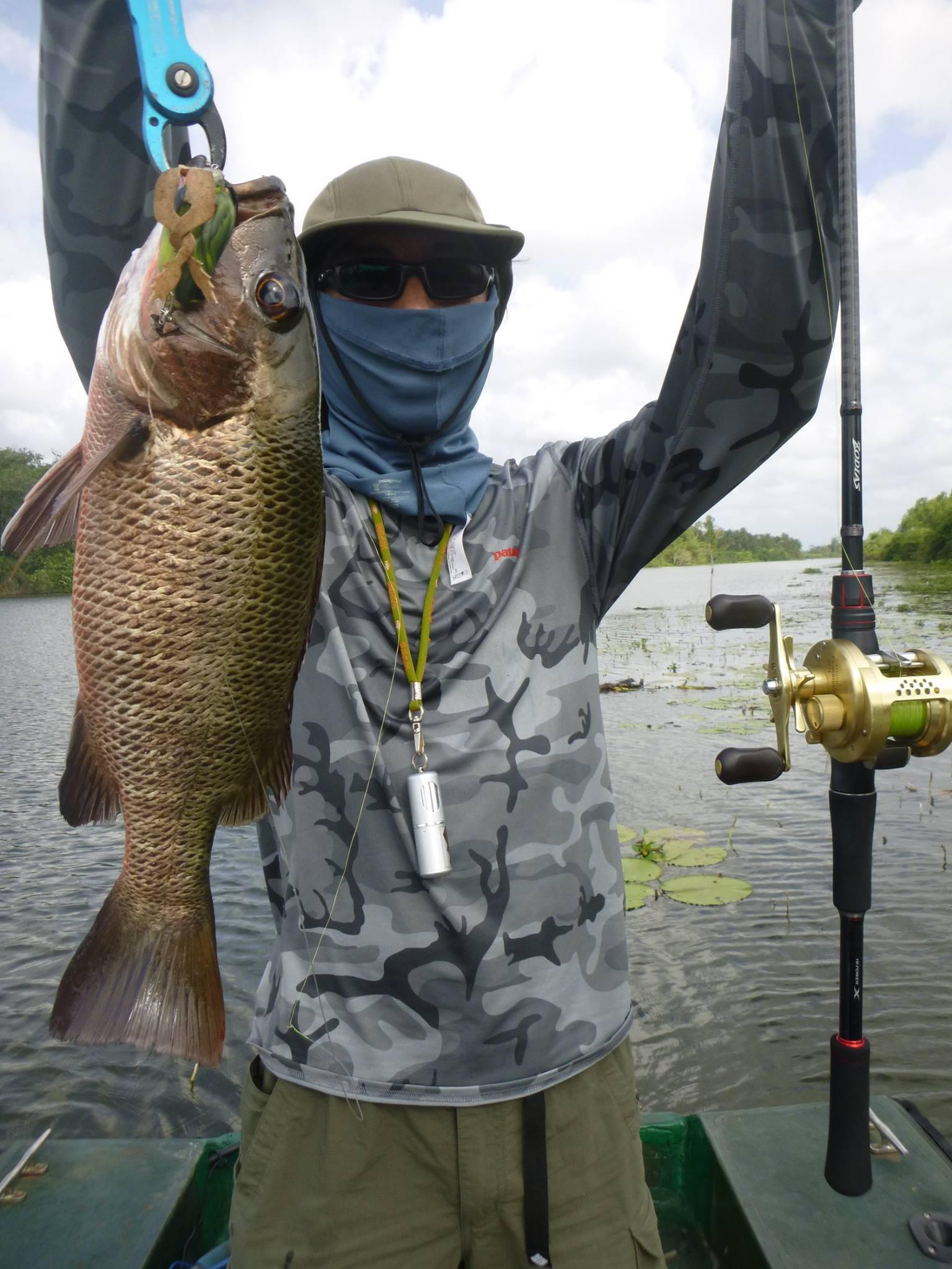 Sportfishing Lanka Mangrove Jack Rubber Frog Bolgoda Lake