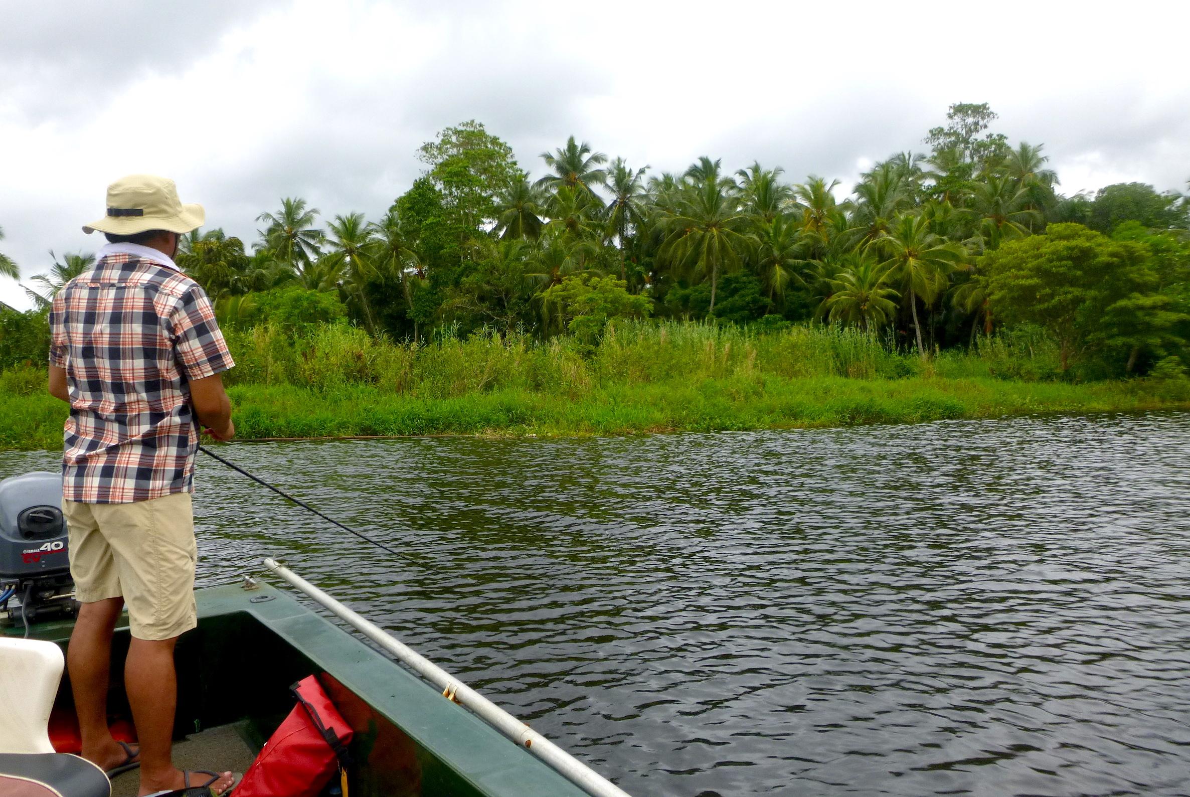 Sportfishing Lanka luring casting lures fishing at Bolgoda Lake.JPG