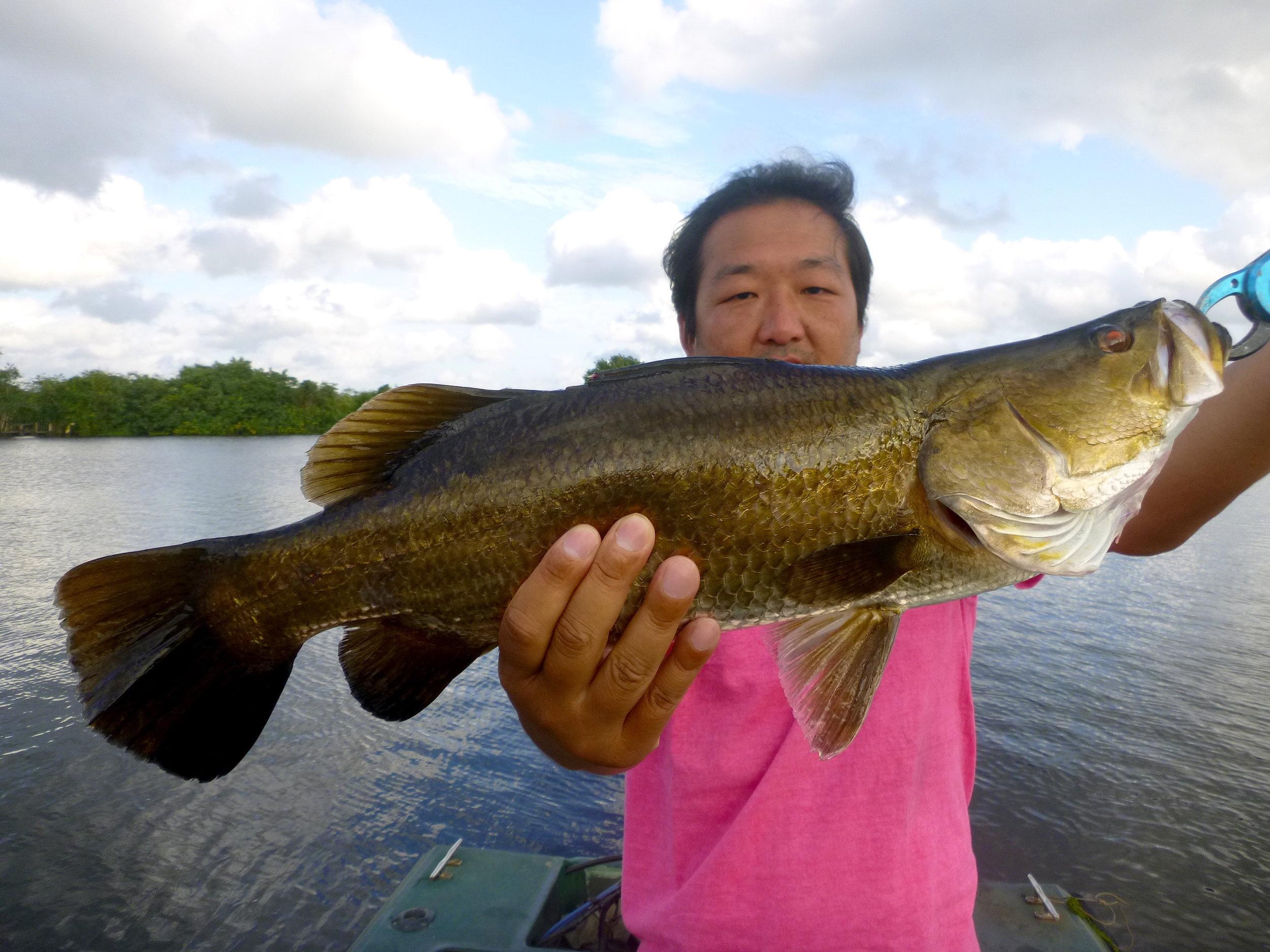 Sportfshing Lanka Golden Barramundi Fishing at Bolgoda Lake.JPG