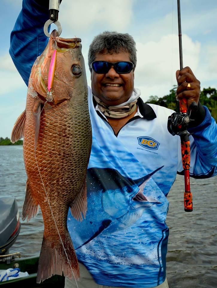 Barramundi fishing tours sri lanka Bolgoda Lake freshwater charter