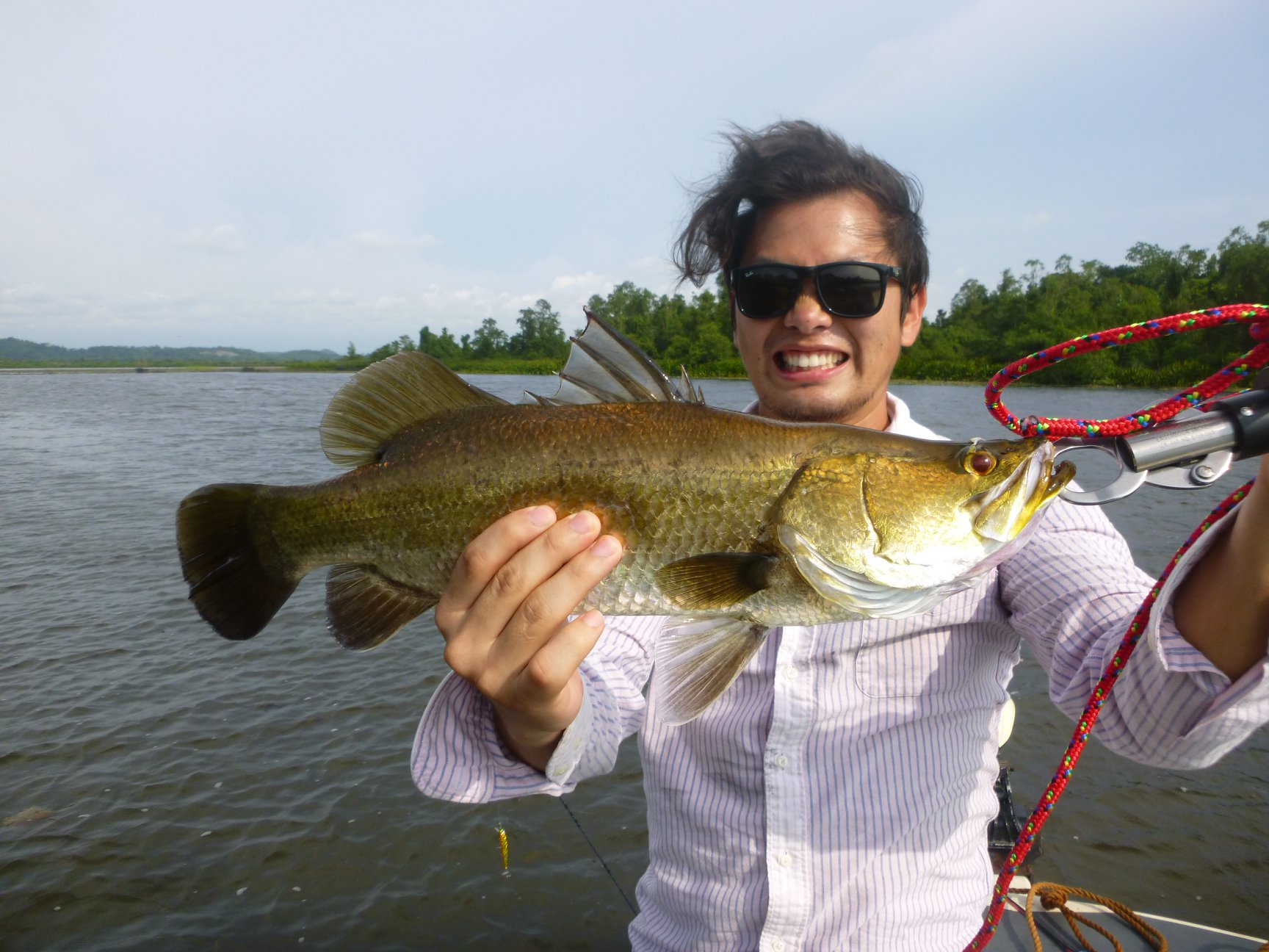 Barramundi fishing tour Bolgoda Lake Sri Lanka.jpg