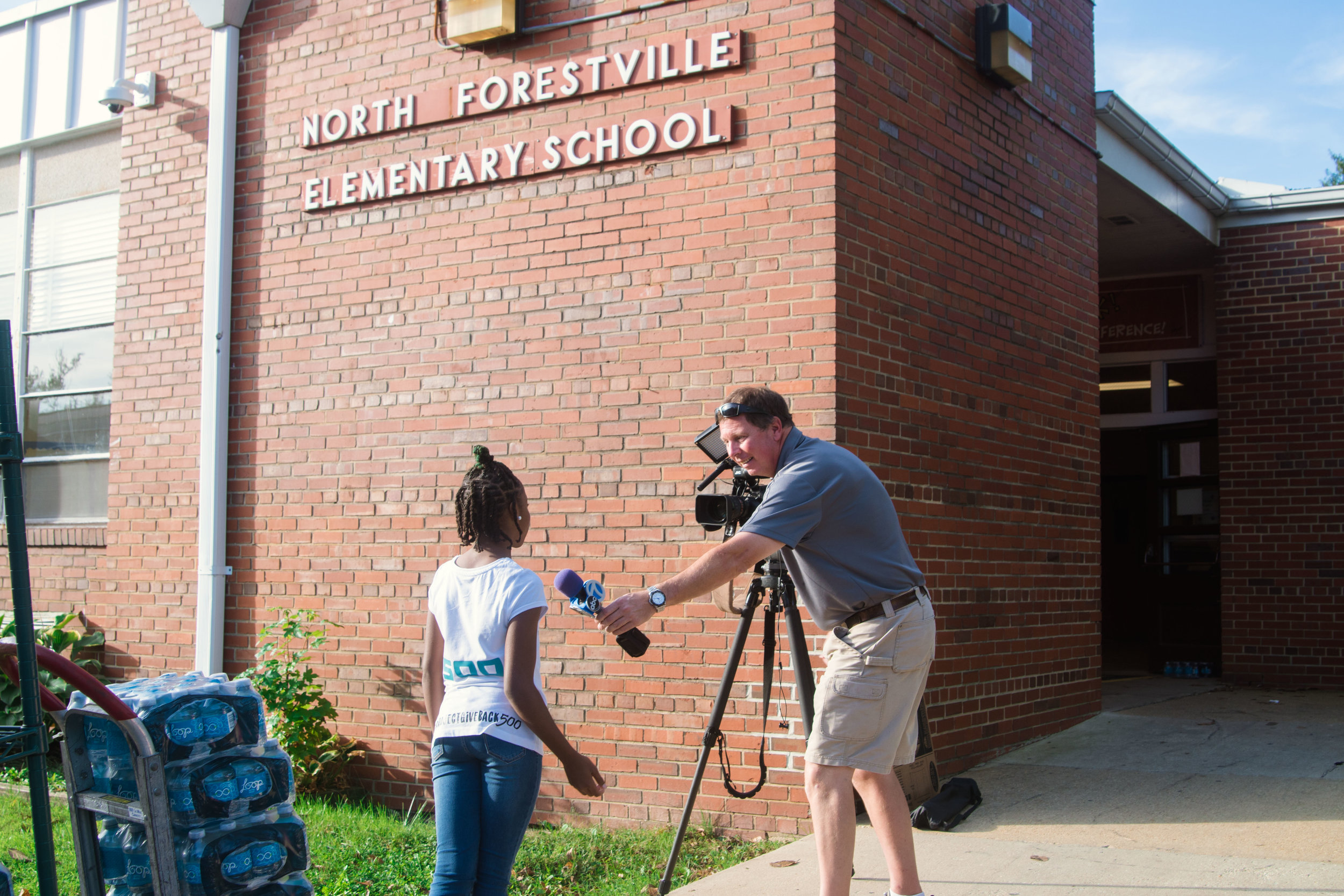 DaShai Morton interviews with local ABC 7 news station.