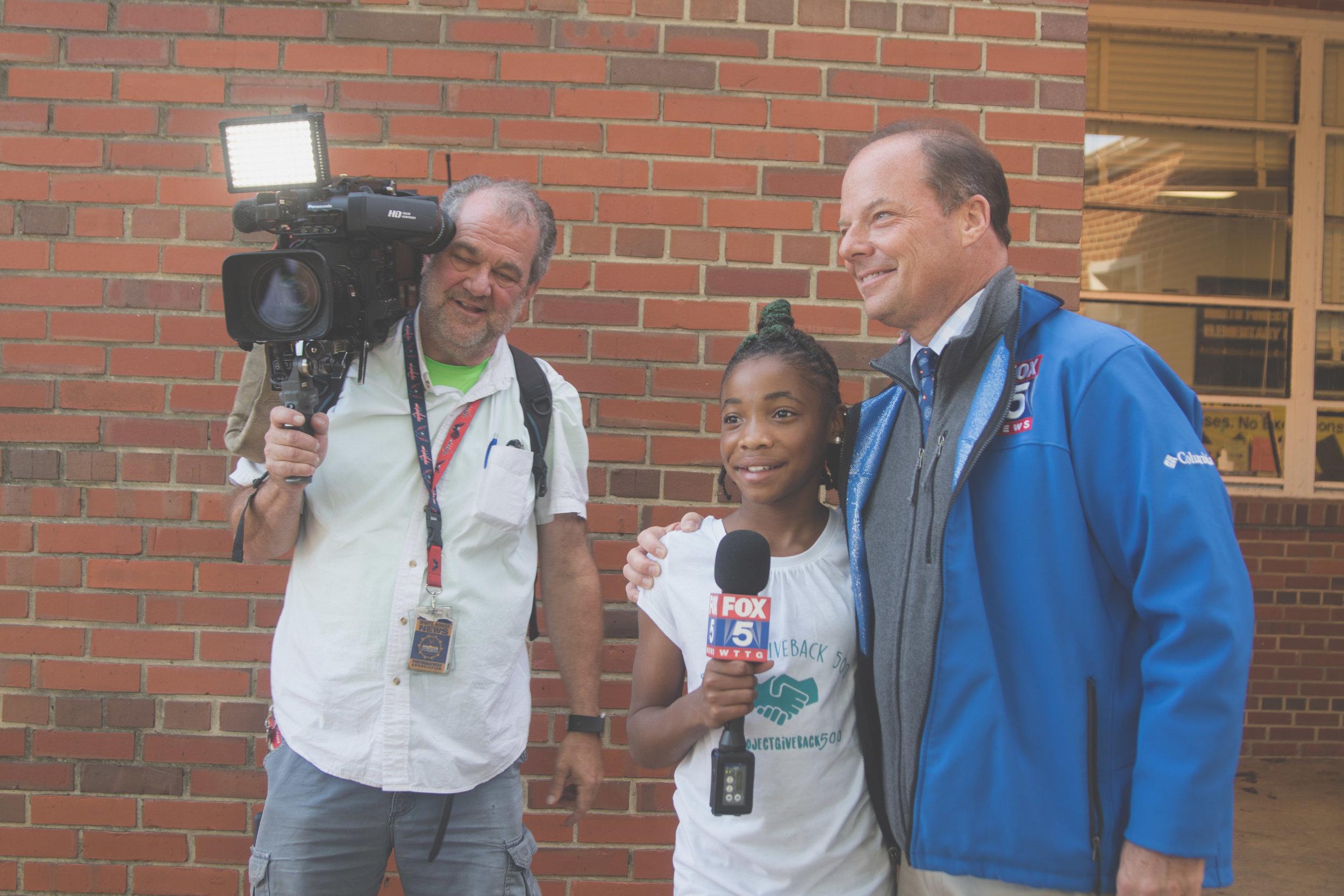 DaShai Morton interviews with local Fox 5 news station.
