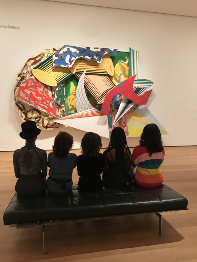 Layla (first from left) and club members of Kids Opera & Art Posse at the Museum of Modern Art
