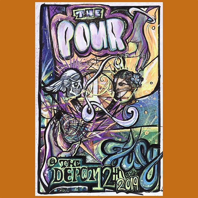 This is the official poster for The Pour at The Depot show this Friday, July 12th! They're all signed by the band and limited in quantity. Pick yours up at our merch booth before they're gone! If you haven't already, sign up for free tix to the show by going to www.depotslc.com/the-pour .... see you all on Friday! Original artwork by Emily Howe. #thepourband #thedepotslc #utconcerts #utahmusicscene #utahmusic #slcmusic #slcmusicscene #pychedelicrock #funk #soulmusic #jamband #jambands