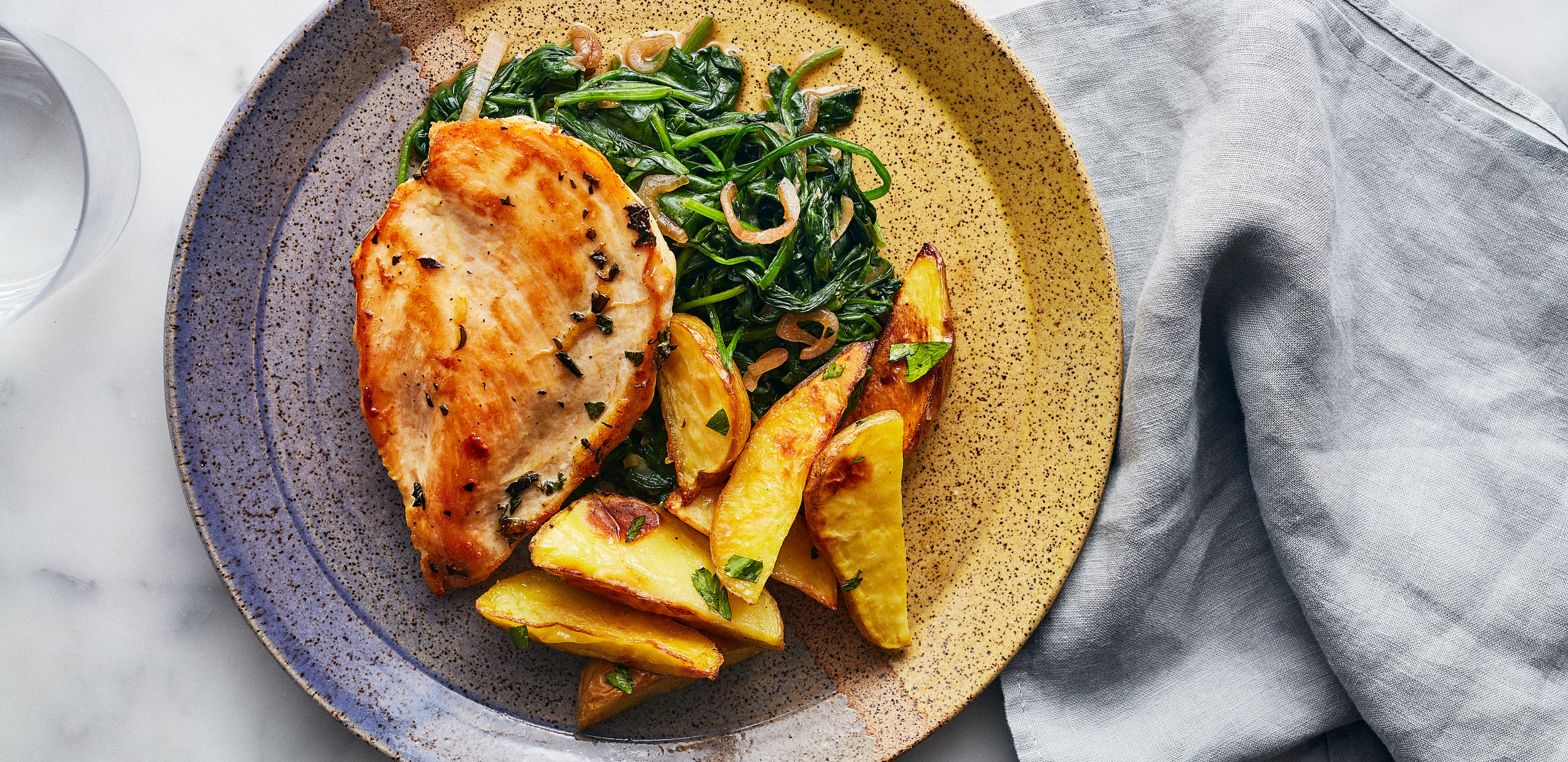 Oregano Chicken with Sautéed Spinach and Lemon Potatoes — 0017 — HERO.jpg