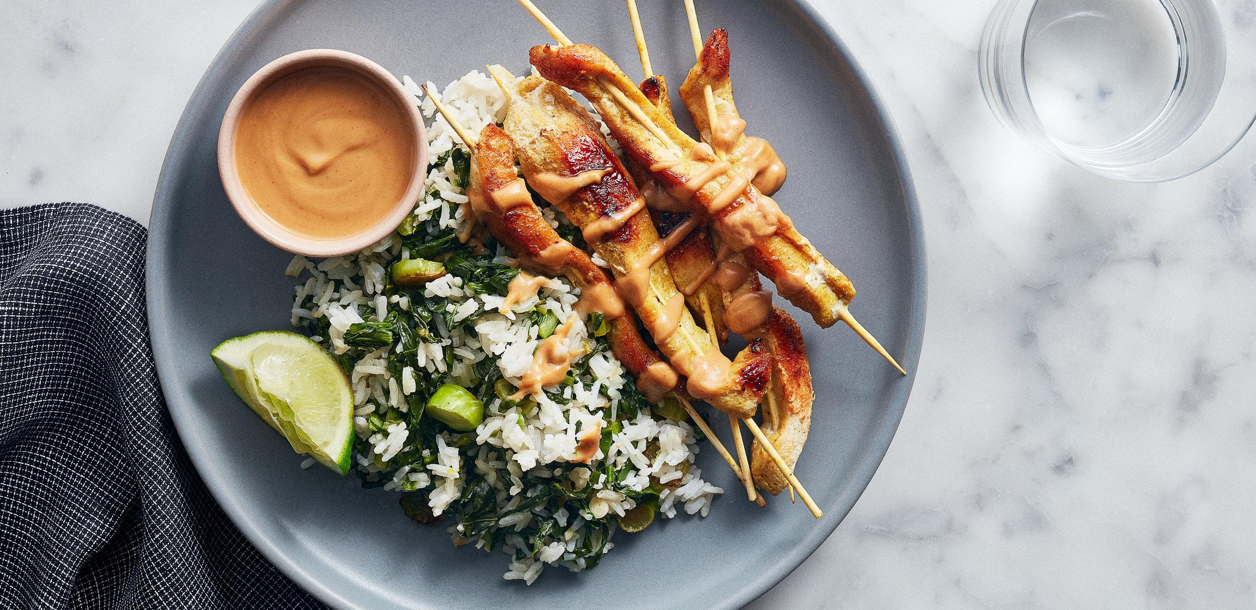 Chicken Satay with Peanut Sauce and Ginger Rice — 0021 — HERO (1).jpg