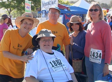 As a nonprofit 501(c)(3) organization, we participated in the Marin County Human Race to increase the visibility of stroke survivors and reclaim our sense of belonging to the larger community. Financial support for our activities is an added benefit.