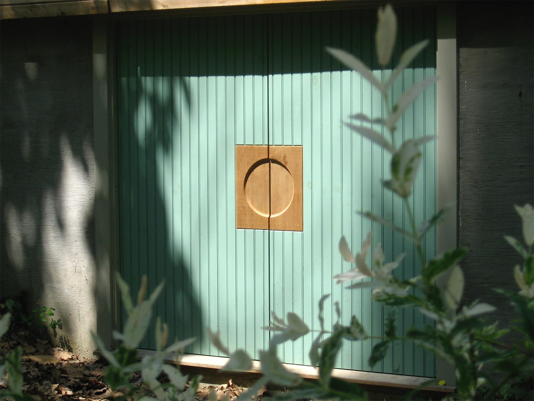 basement doors: painted breadboard & western red cedar
