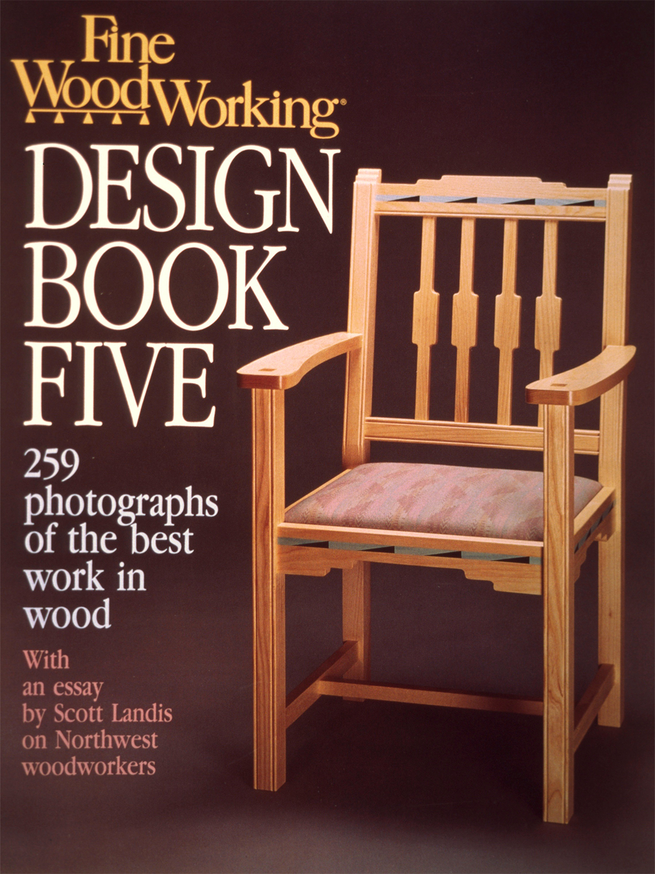 book cover (southwestern chair): bleached ash with a lacquer finish. Details in acrylic paint.