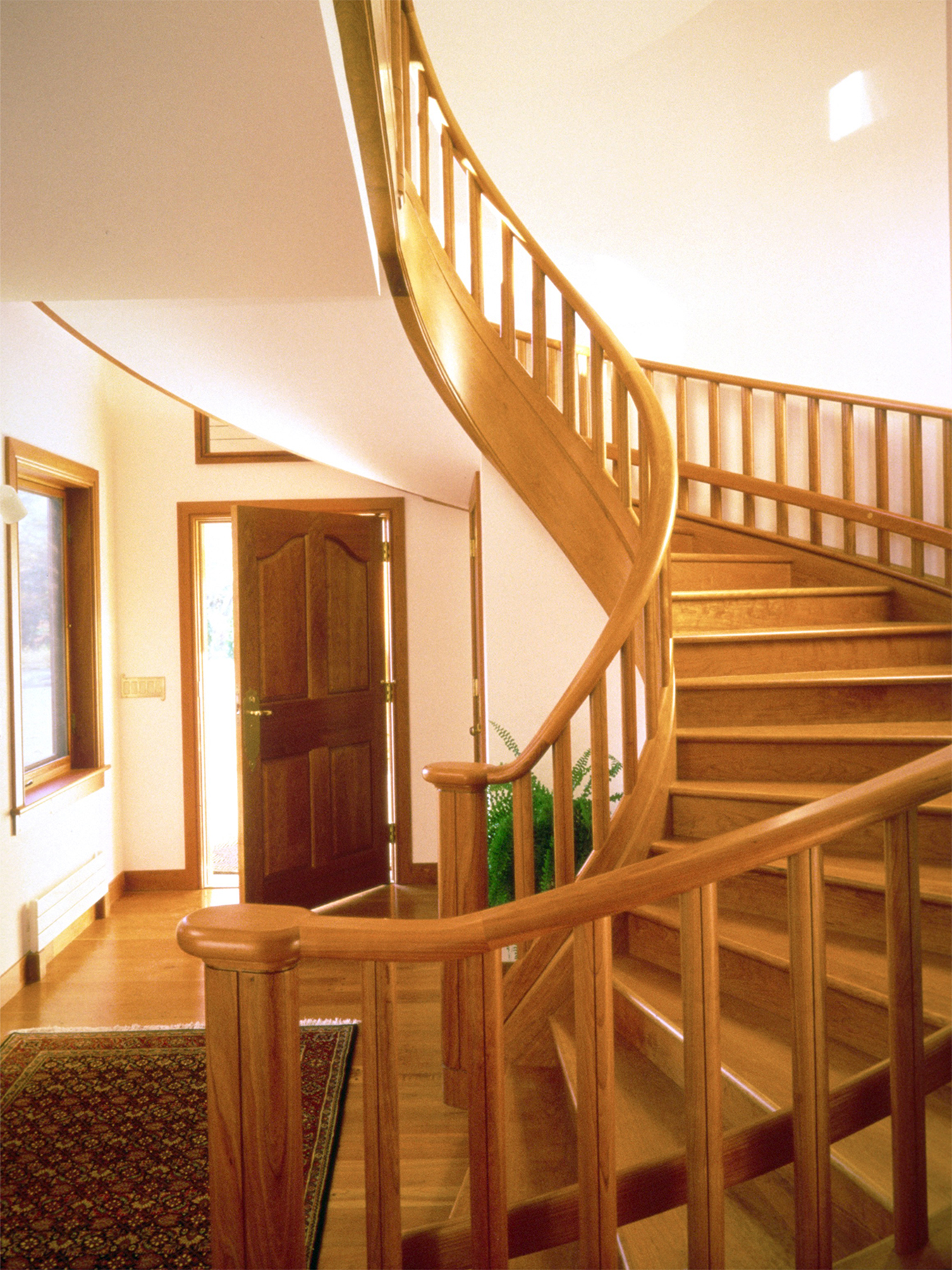 Noyce staircase: cherry