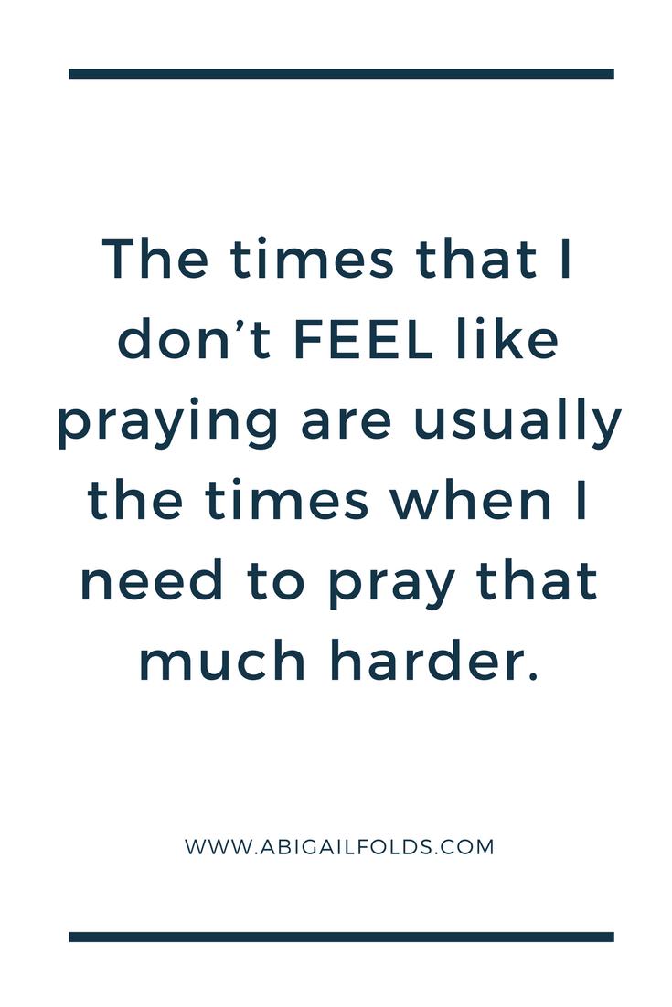 pray harder