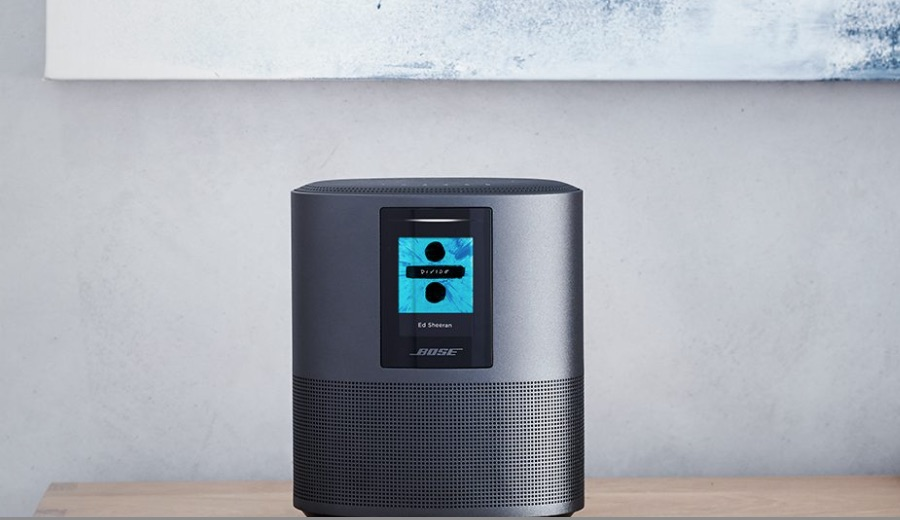 Bose Home Speaker 500 : Delight yourself with the sound from this Bose speaker. Alexa is built in to accept your voice commands. Two drivers point in opposite directions to deliver the sound.
