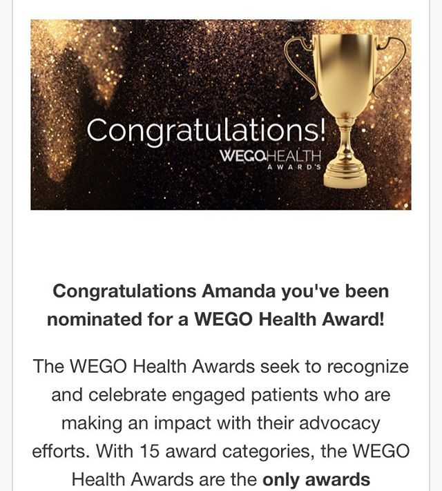 I'm not sure how, but I've been nominated for a patient leader initiative that supports patients being at the table for important conversations surrounding care, treatment, and coverage. I was nominated in relation to PPD and if you'd like to offer your support for advancing maternal mental health, please know I appreciate any additional nominations as much as this very surprising and humbling one here!