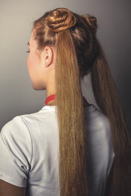Sailor Moon's Usagi Tsukino hairstyle. Photo credit: Race Point Publishing, an imprint of The Quarto Group