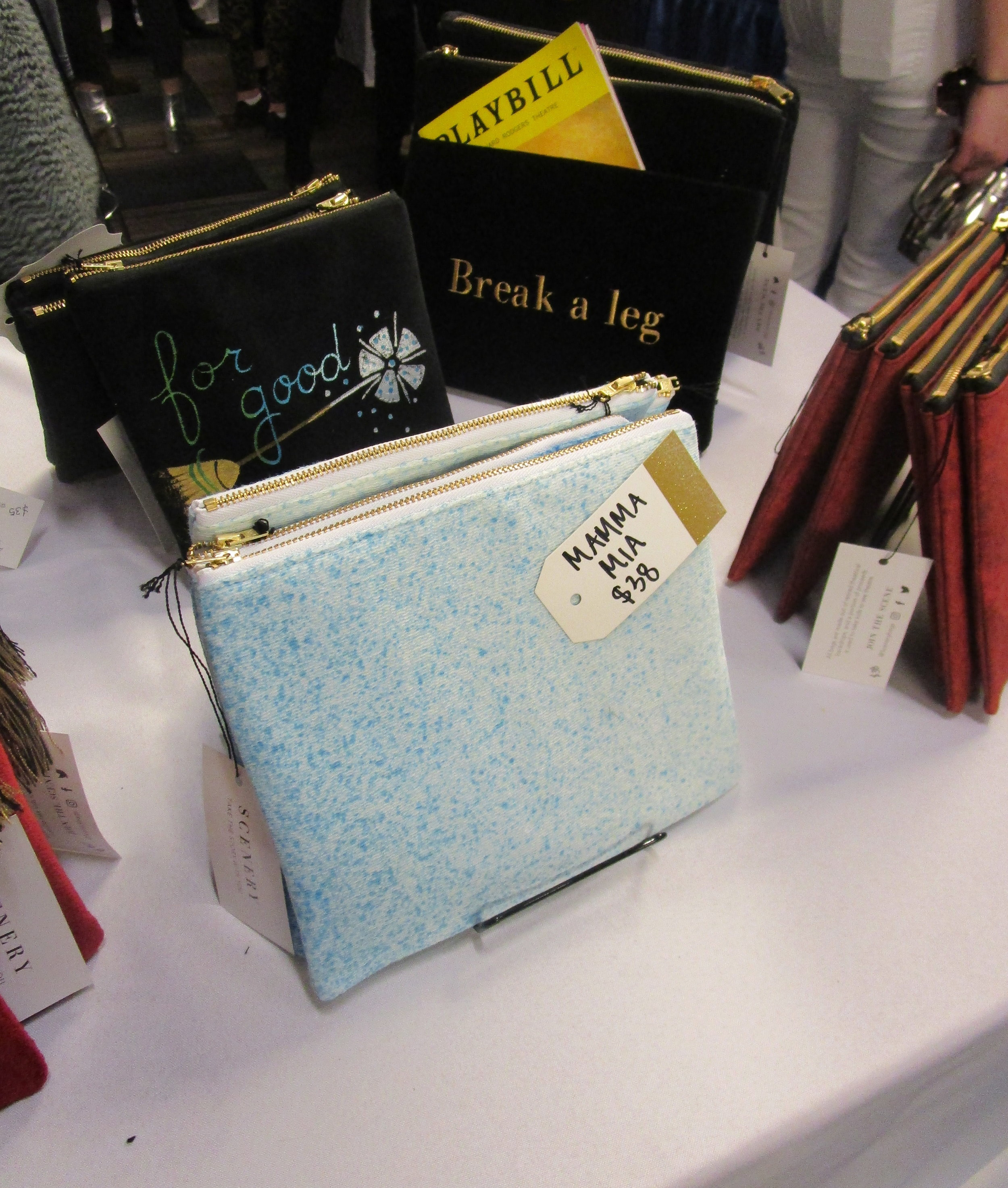 Scenery Bags booth at BroadwayCon. Photo credit: Lisa Granshaw