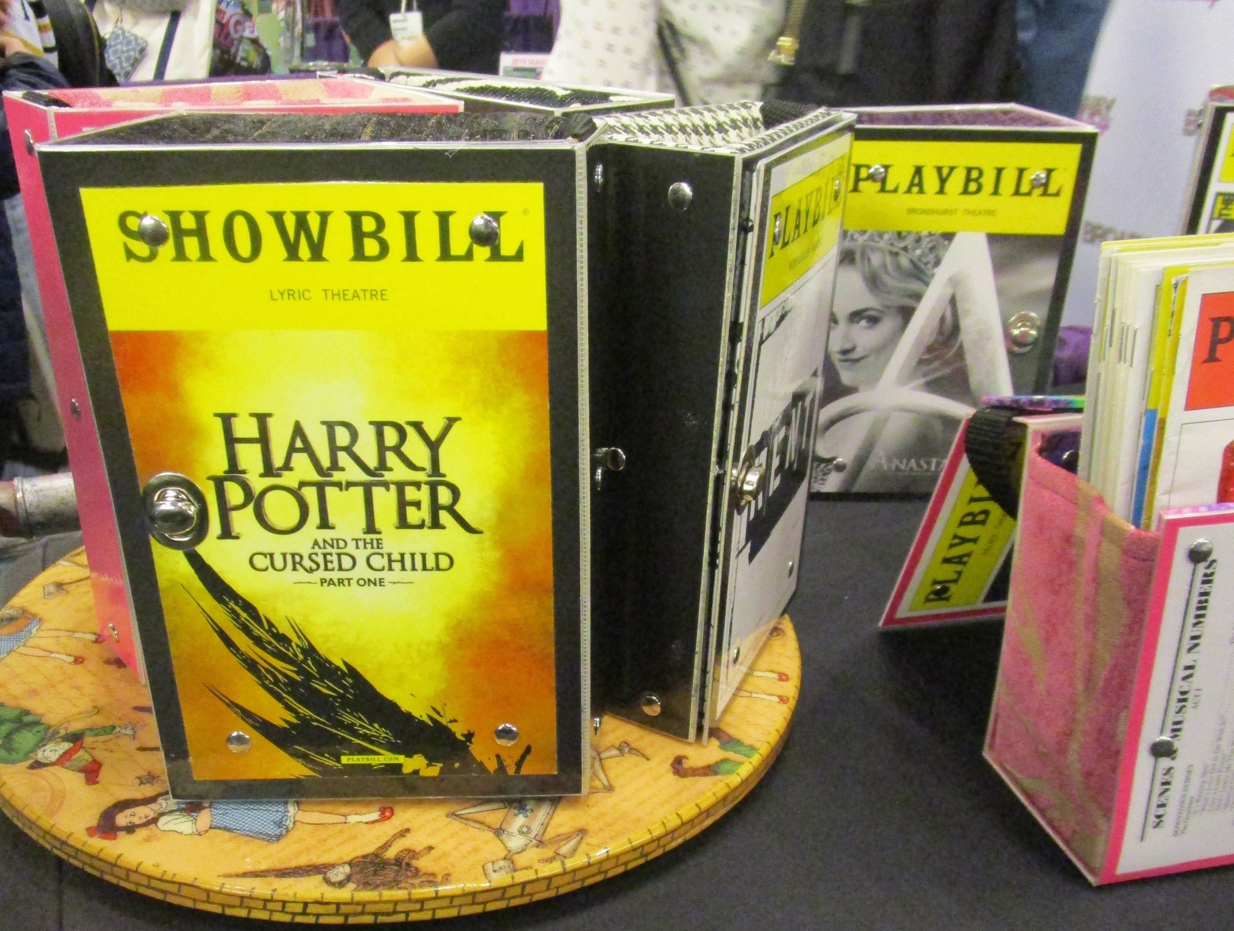 Rediscover Hangbags booth at BroadwayCon. Photo credit: Lisa Granshaw
