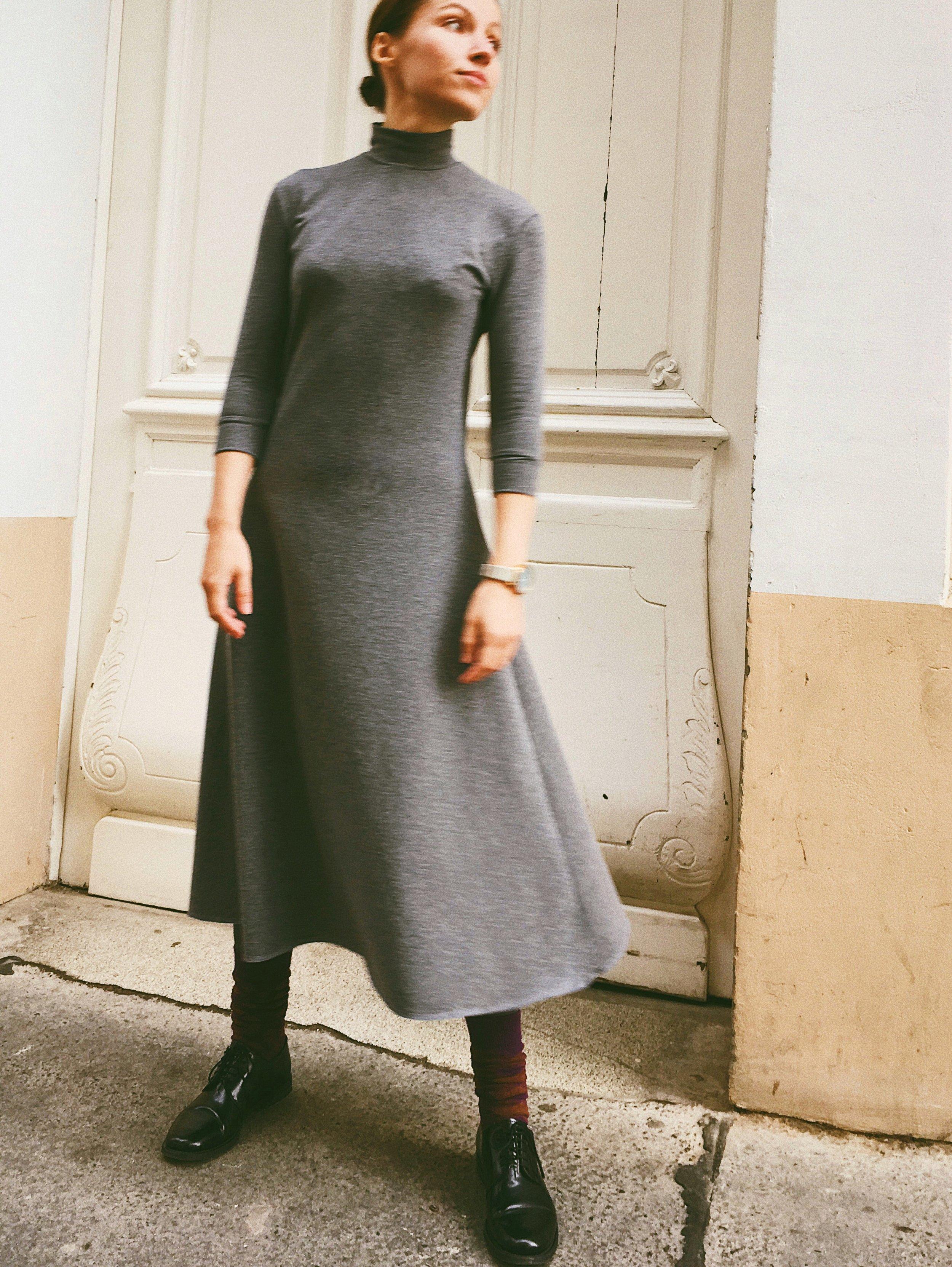 A-silhouette Jersey Dress