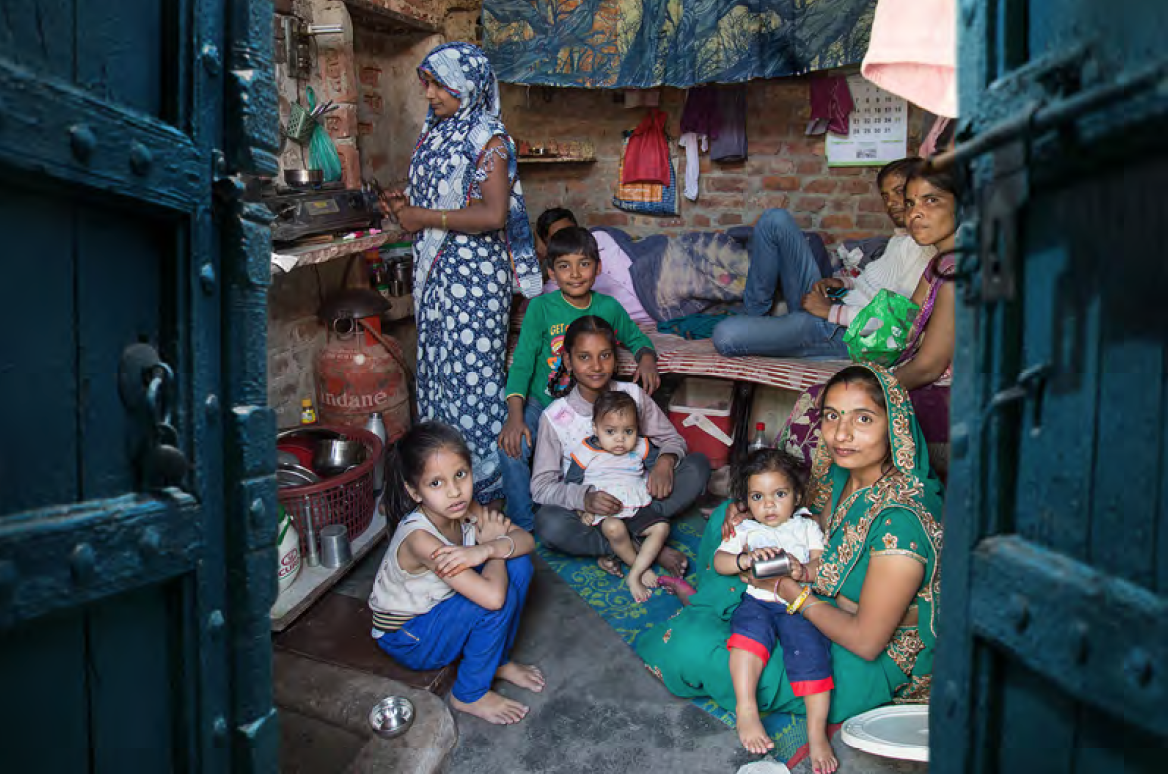 Most of the households in the slum have only one room, some of them are  being shared with another family too.