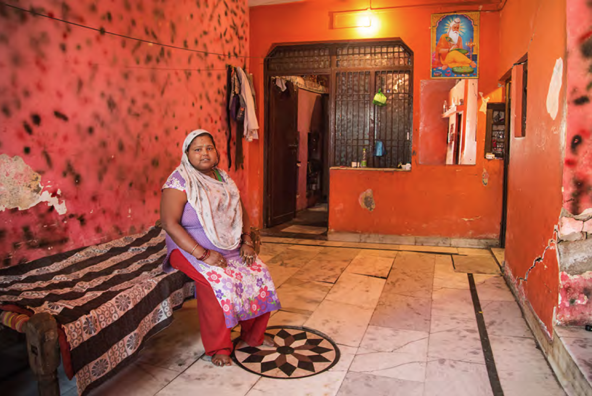 This family owns the whole building. Nesha is the oldest of four. Two of her sisters are already married. She is sleeping in the entrance of the house in her own bed. She decorated her room on her own, which is very unique in comparison to all the homes I saw.