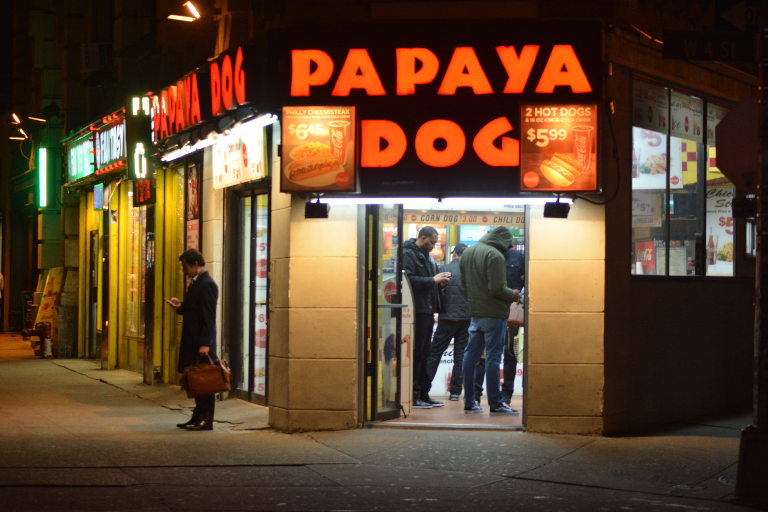 Meet You Outside Papaya Dog