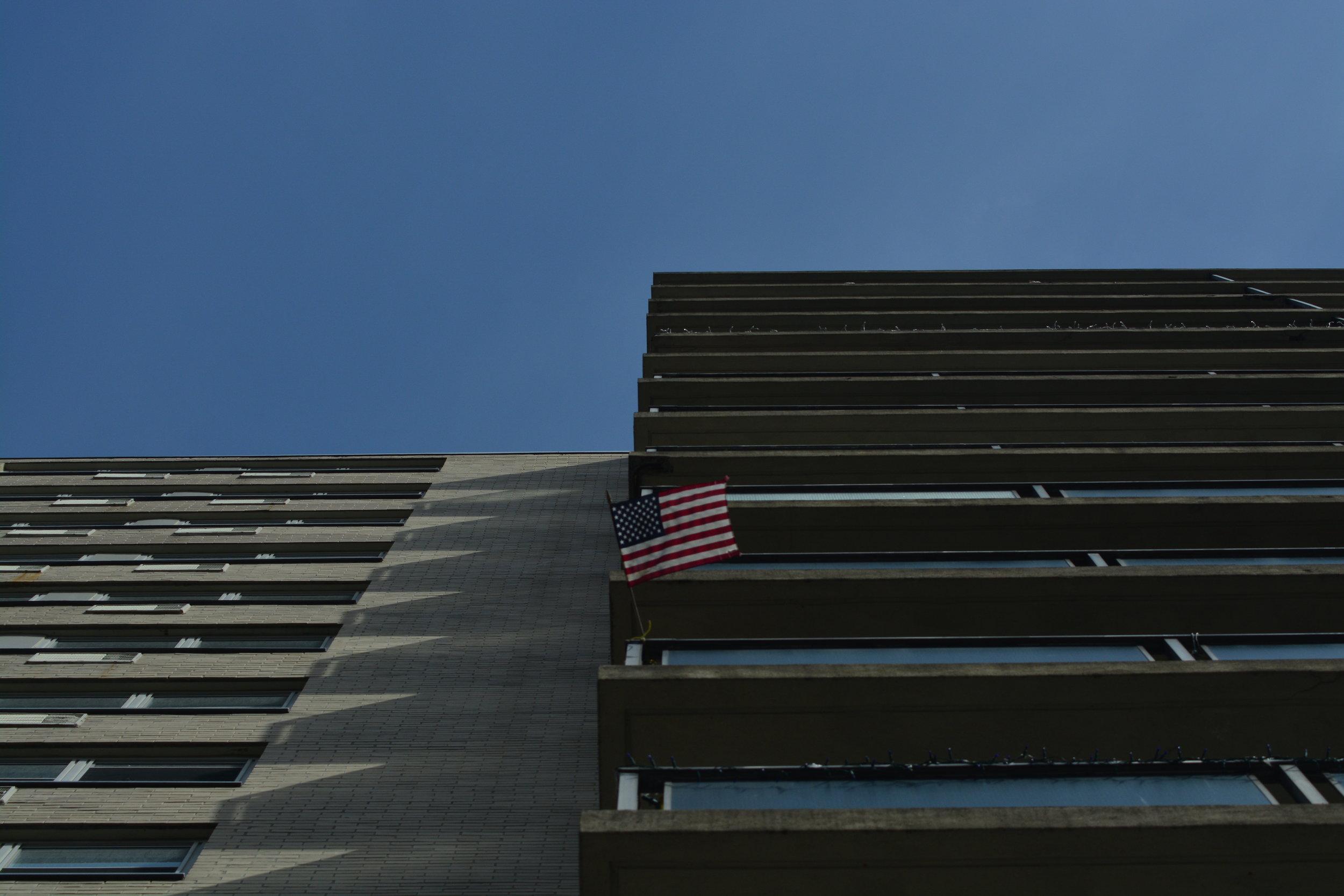 American Flag // Balcony