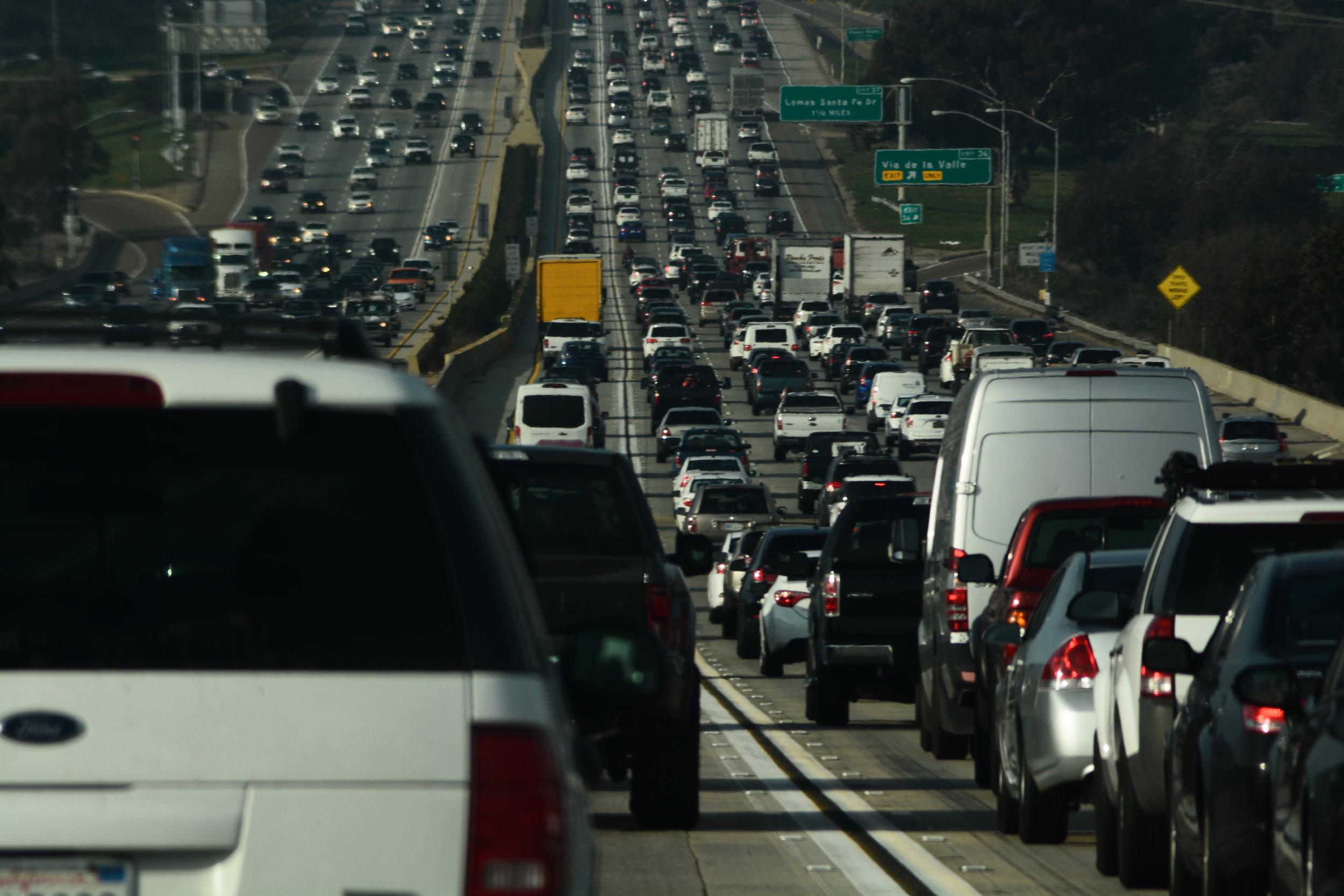Midday California Traffic